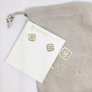 NWT Kendra Scott Logo Earrings